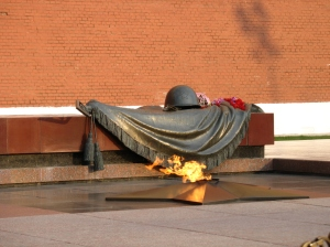 Tomb of the unknown soldier in Moscow which contains the remains of the unknown soldiers, killed in the Battle of Moscow in 1941.